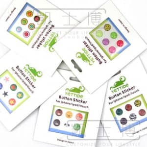 Yettide Home Button Sticker Sets for iPhone, iPad, iPad Mini, iPod Touch